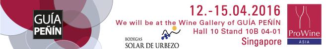 Viña Urbezo 2015 will be present in Prowein Singapore