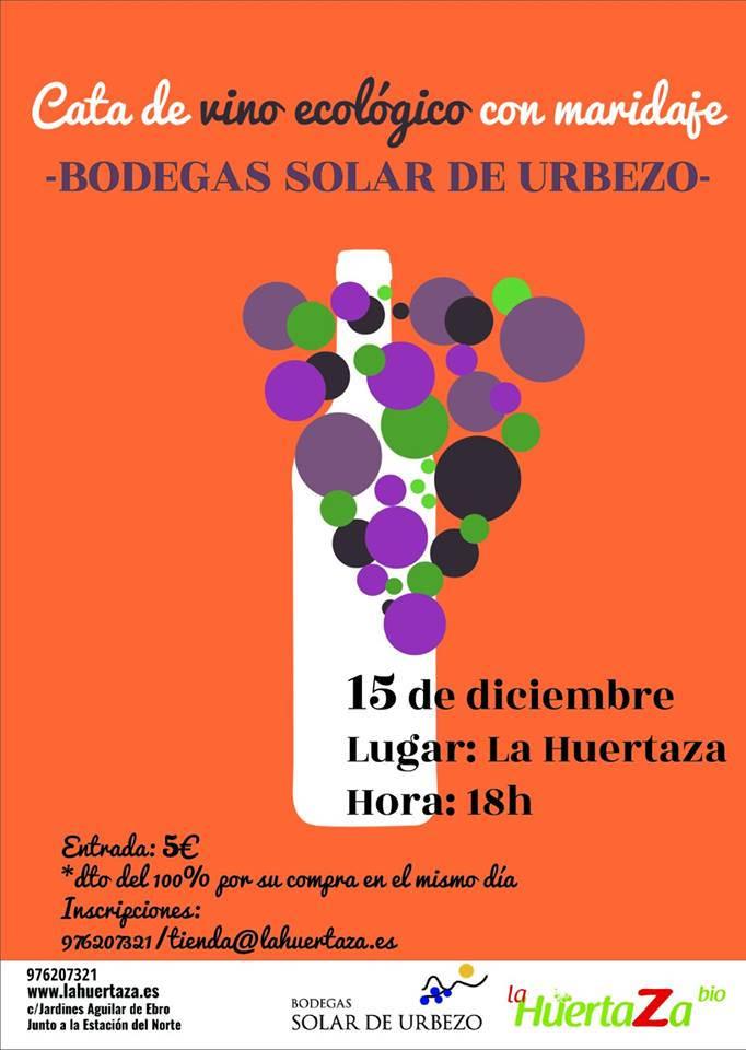 Cata de vino ecológico de Solar de Urbezo en La Huertaza